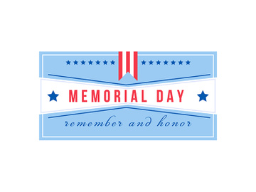 National Memorial Day flat color vector badge preview picture