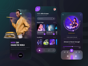 Music Player App Design preview picture