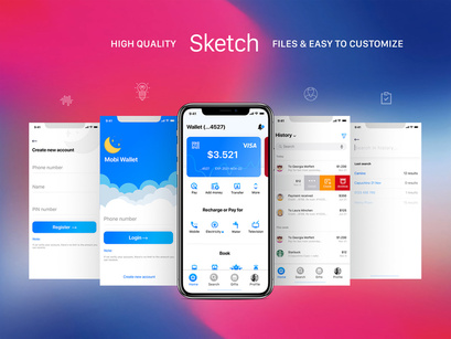 Mobi Wallet - Fintech Apps and Banking Mobile UI KIT by ~ EpicPxls