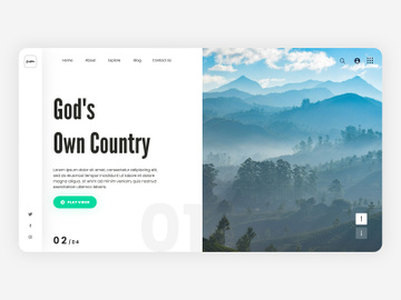 Travel Web Landing Page preview picture
