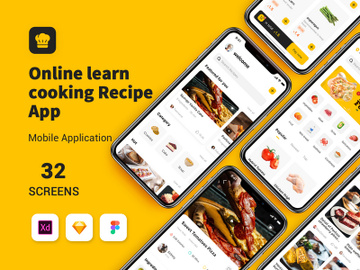 Online learn cooking Recipe App preview picture