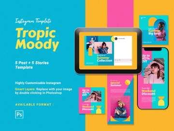 Instagram Template - Tropic Moody preview picture