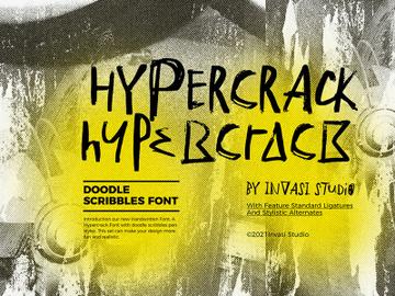 Hypercrack - Scribbles Font preview picture
