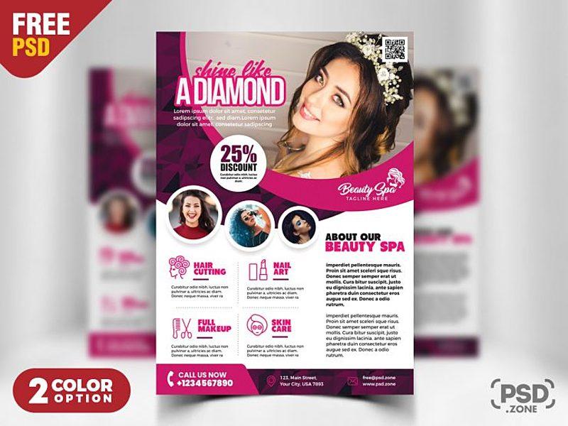 beauty salon flyer template psd by psd zone