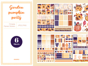 Garden Pumpkin Party Planner Stickers preview picture