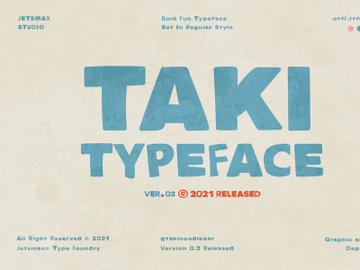 TAKI - Display Typeface preview picture