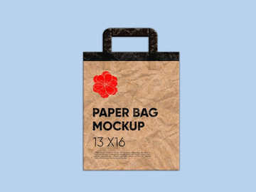 Paper Bag Mockup with Realistic Paper Texture preview picture