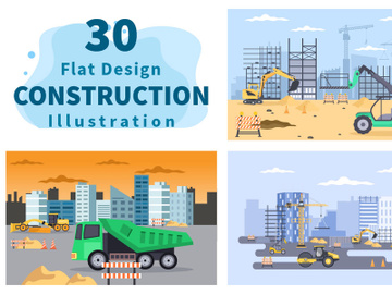 30 Construction of Real Estate Vector preview picture