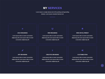 Service Website Template Design preview picture
