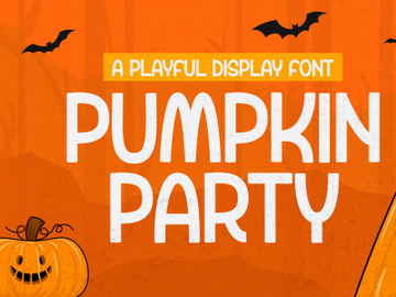 Pumpkin Party - Playful Display Font preview picture