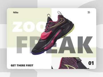 Shoes Website Landing Page Adobe XD preview picture