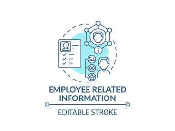 Employee related information concept icon preview picture