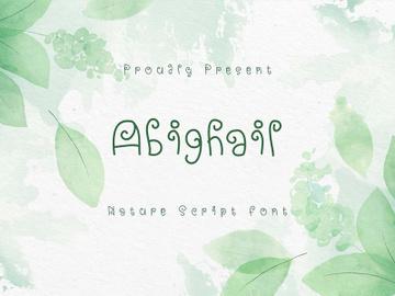 Abighail - Nature Script Font preview picture