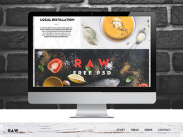 Raw Free One Page PSD Template preview picture