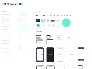 UX Flowchart Kit for Sketch preview picture