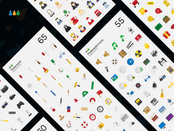 51 Essential Flat Vector Icons preview picture