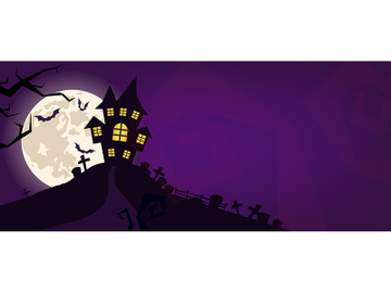 Halloween scary vector background preview picture