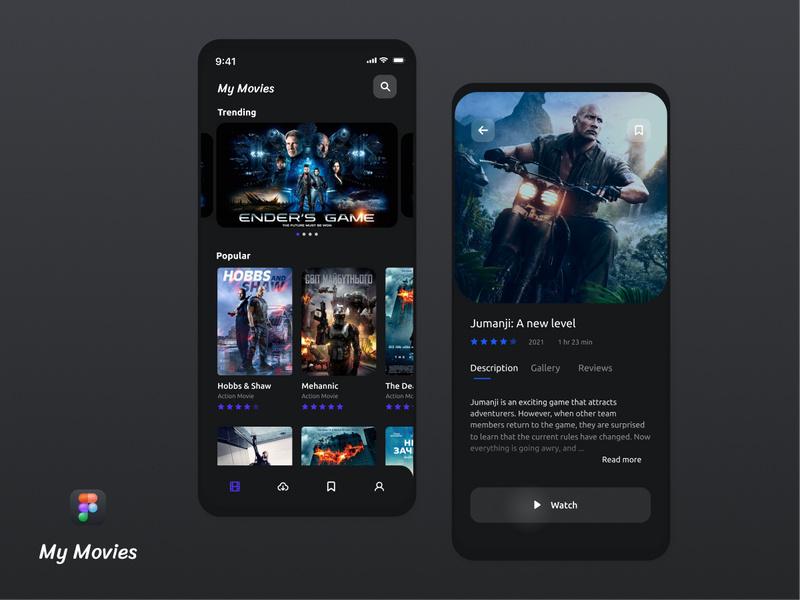 My Movies App Design