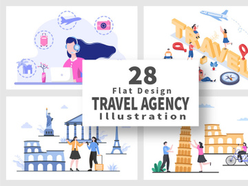 28 Travel Agency Around The World Vector Illustration preview picture