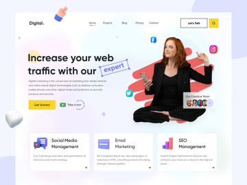 Digital Agency Website Design preview picture