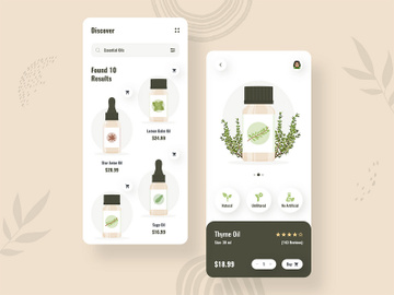 Essential Oil eCommerce App Design preview picture