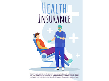 Health insurance brochure template preview picture