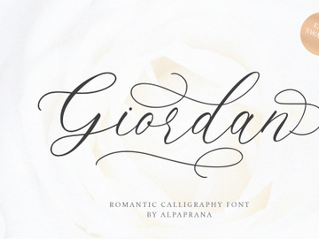 Giordan - Romantic Calligraphy Font preview picture