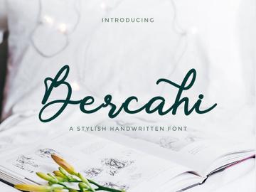 Bercahi - dazzling handwritten script font preview picture