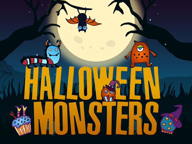 Halloween Monsters Free Vector Illustration preview picture