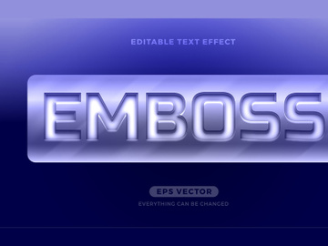 Steel Emboss editable text effect style vector preview picture