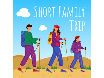 Short family trip social media post mockup preview picture