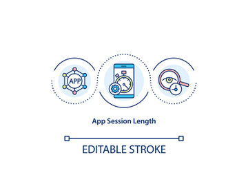 App session length concept icon preview picture