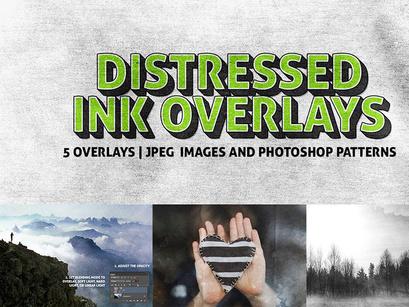 5 Distressed Ink Overlay Textures