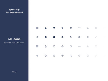 Dashboard Icon Set preview picture