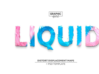 Free Liquid Displacement Maps