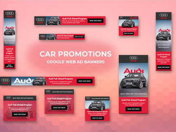 Car Advertisement Web Ad Banner Template preview picture