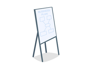 Writing board with business plan semi flat color vector object preview picture