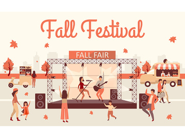 Fall festival flat illustration preview picture