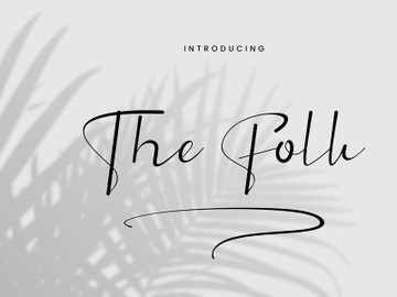 The Folk - Signature Font preview picture