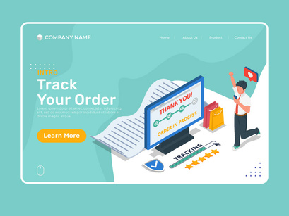 Man do order tracking in computer and mobile phone