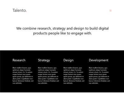 Talento - Free Adobe XD Template by Diego Valencia ~ EpicPxls