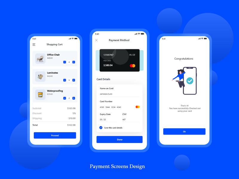 Payment Screen Design