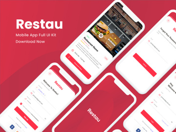 Restau Mobile App UI Kit preview picture