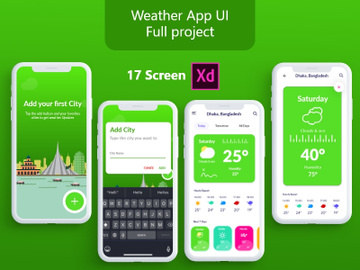 Weather App UI Design full project. preview picture