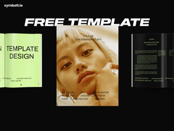 Free InDesign Template - Fashion Study preview picture