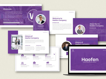 Haefen Busines Keynote Template preview picture