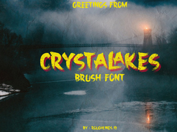 Crystalakes Display Font preview picture