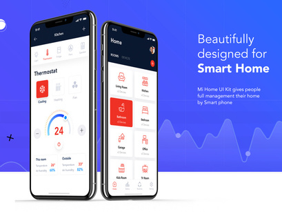 Smart Home UI Kit for FIGMA by Freeslab88 ~ EpicPxls