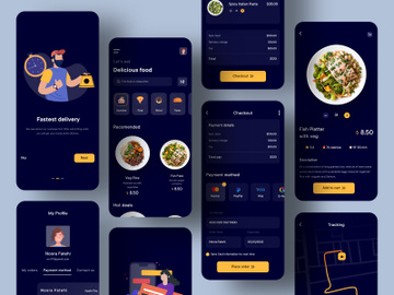 Food Delivery Mobile Application Design preview picture