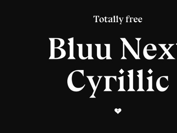 Bluu Next Cyrillic — free font preview picture